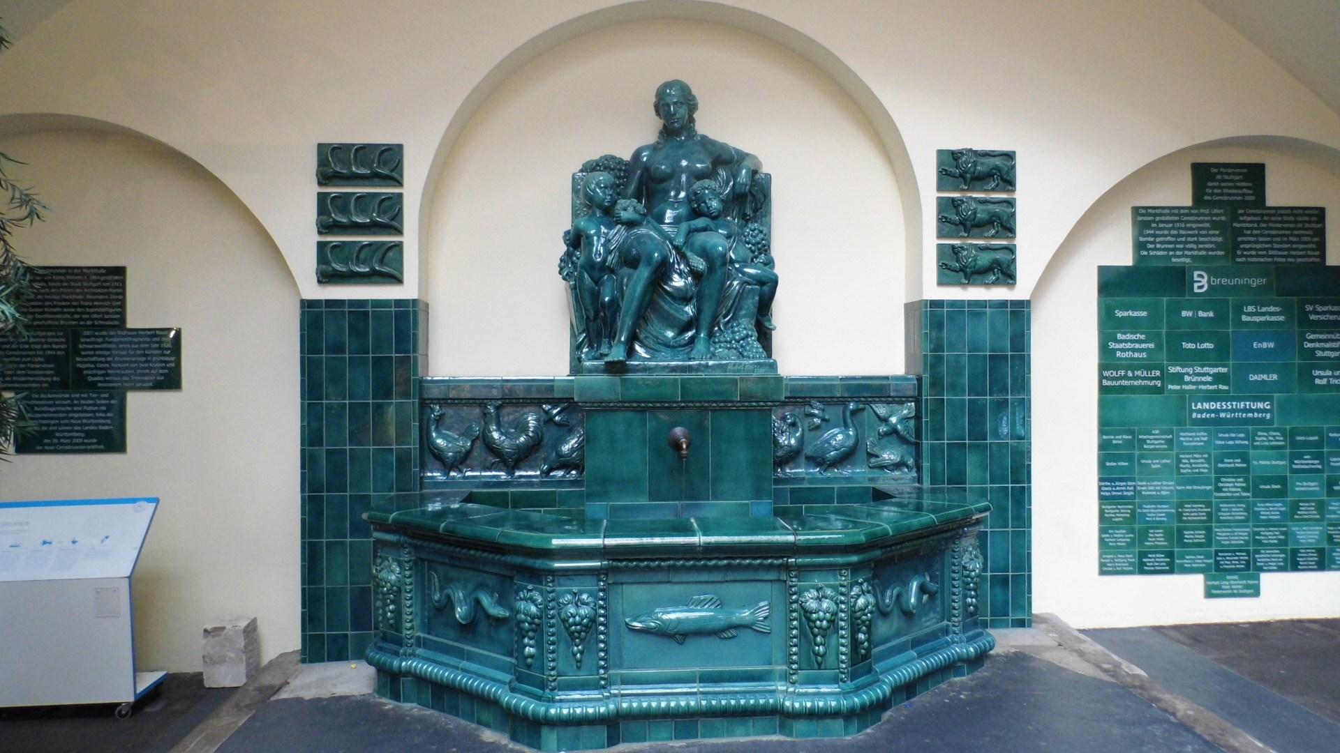 Ceresbrunnen in der Markthalle